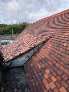 Roof tiles before removal